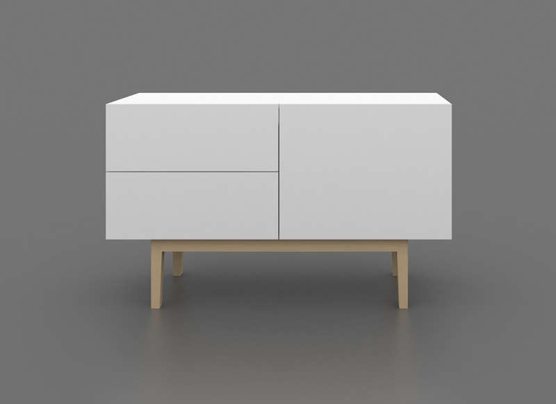 Buffet de rangement style scandinave COPENHAGUE M Achatdesign # Buffet Design Bois